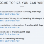 Writing awesome content for your blog….consistently!