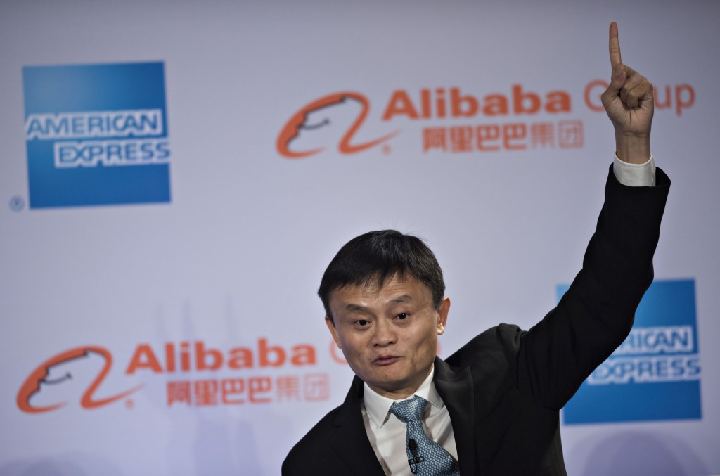 Jack Ma, Founder of Alibaba in a rare stance of power. Photograph by Daniel Acker — Bloomberg via Getty Images